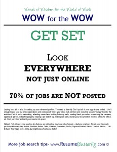 WOW for the Wow - Job Search Skills - Resume Butterfly - Get Set - Look