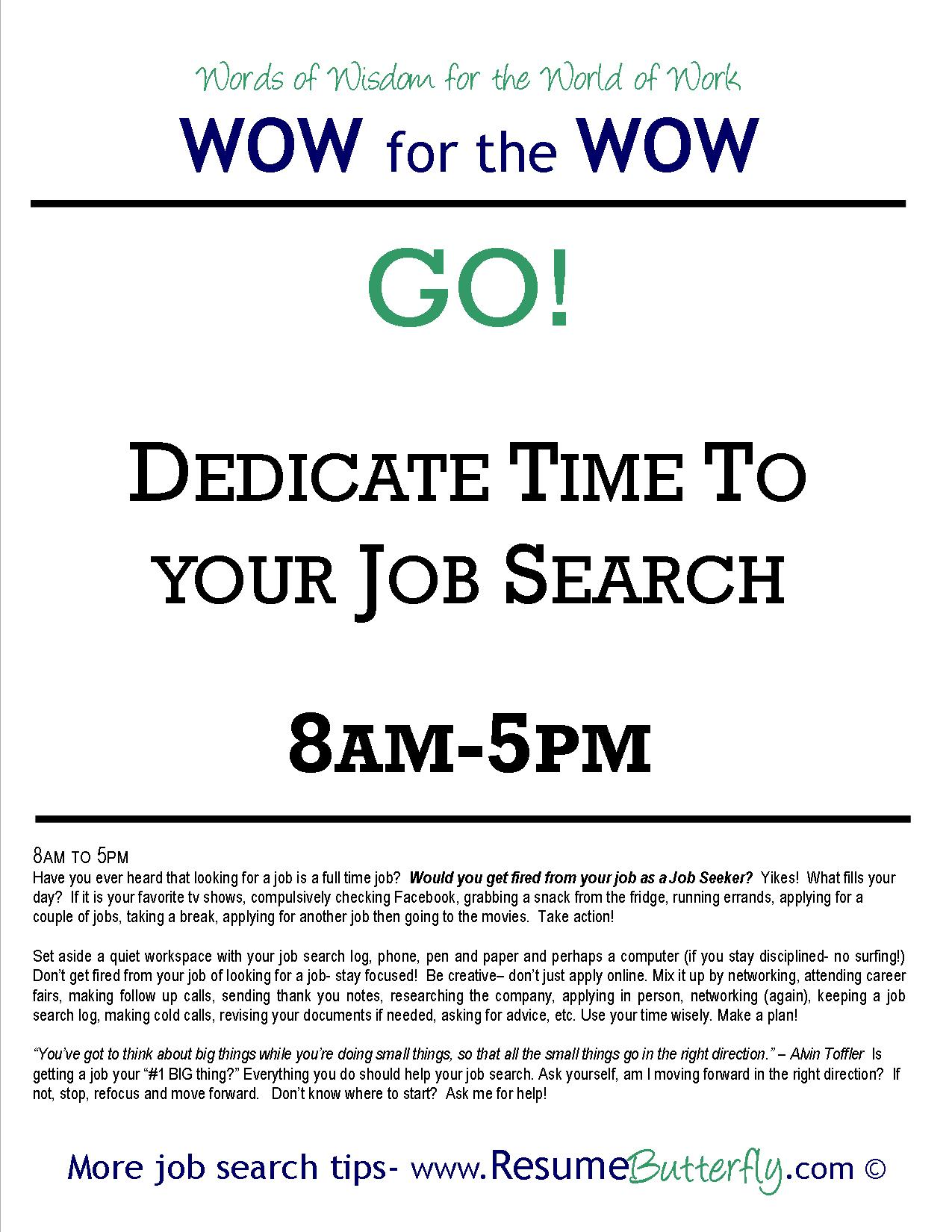 wow for the wow job search skills resume butterfly go