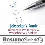 Job Search: Pre-Interview Worksheet and Checklist