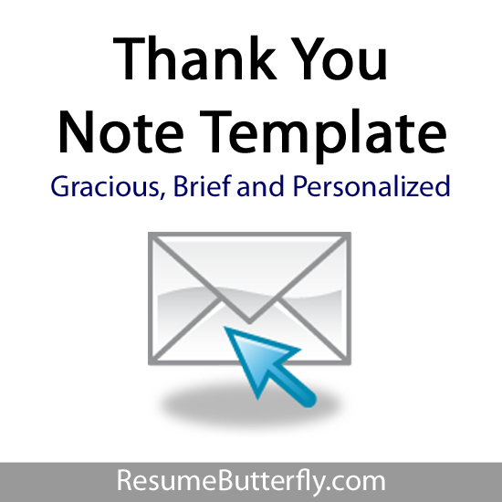Personalized Thank You Letter Template - Job Search Guide from ResumeButterfly