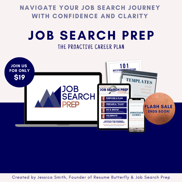 Job Search Prep by Resume Butterfly